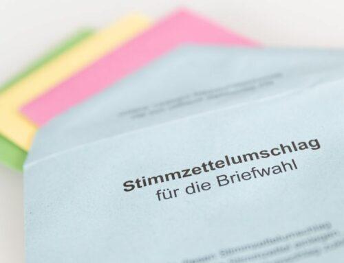 Jetzt gibt's Unterlagen für die Bundestagswahl